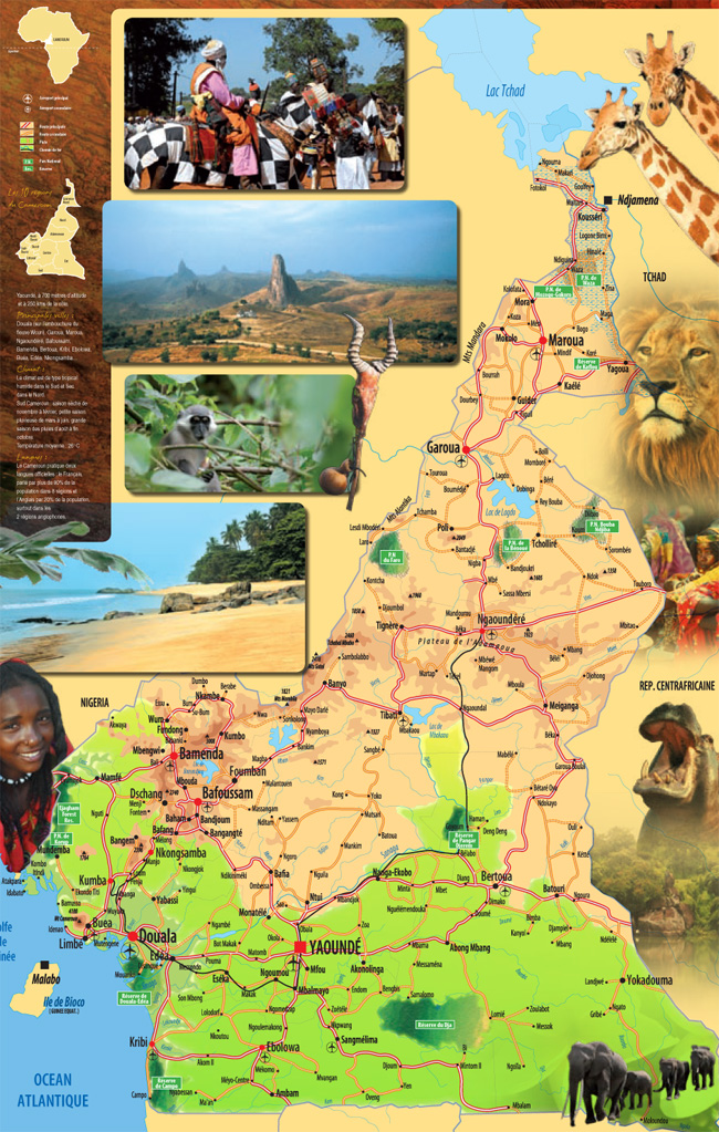 cameroon tourism and travel map